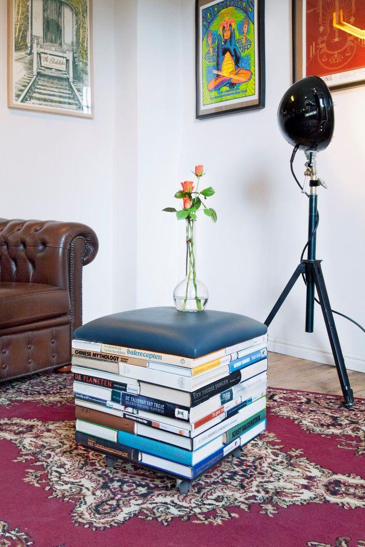 The BookPouf designed by Sledgecorner. Dutch design #books, #seat