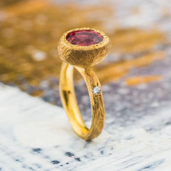 Mystical 3.2 Ct Pink Tourmaline and White Natural by ZEHAVAJEWELRY