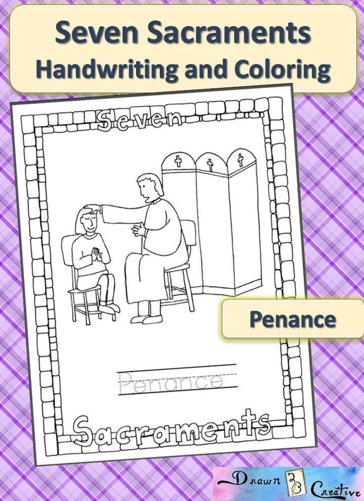 sacraments of the catholic church coloring pages - photo #9