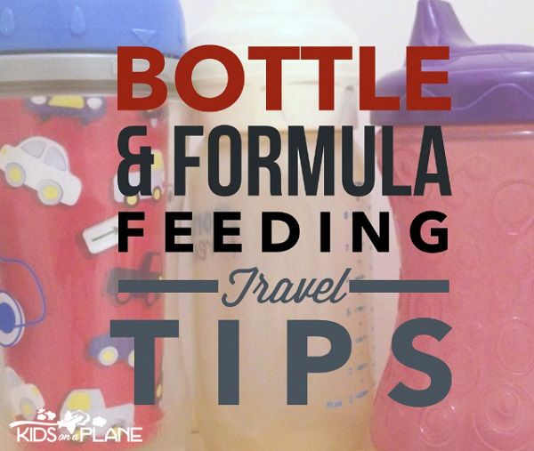 7 Tips for traveling with a bottle fed or formula fed baby. Packing List of items that make bottle feeding easier - #5 is something you probably already have at home.