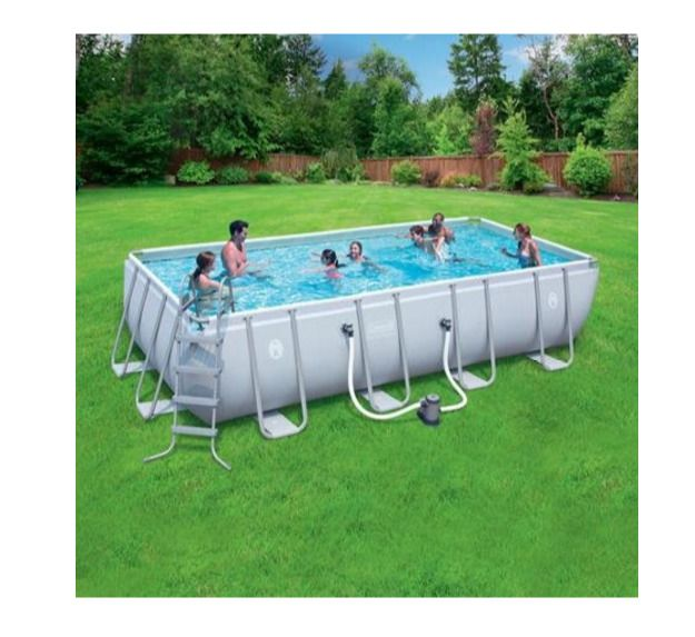 Outdoor Steel Swimming Pool Set 18 x 9 Feet  w/ Pump Filters Cover Kids Adults  #Bestway