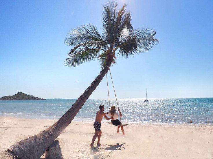 Life in the Whitsundays is ah-mazing… Like swinging from the palm tree with an epic view!!!    @em_whitney   #lovewhitsundays #thisisqueensland #seeaustralia