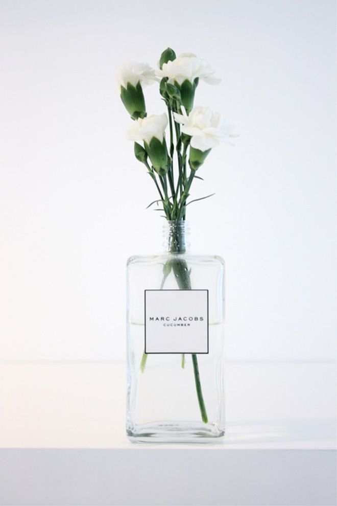 Such a good idea! Never throw away such a pretty (and expensive) bottle. @erinvingerhoets