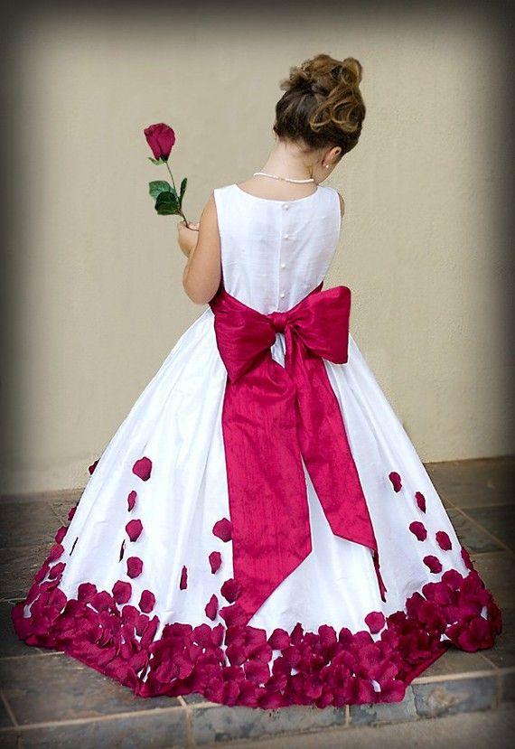 Seda del Dupioni pétalo de rosa vestido por richelleleanne en Etsy