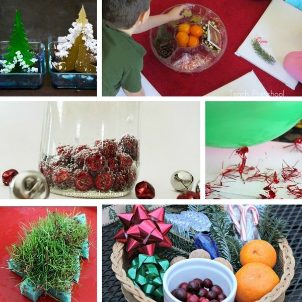 Preschool science activities for Christmas and Christmas science experiments.