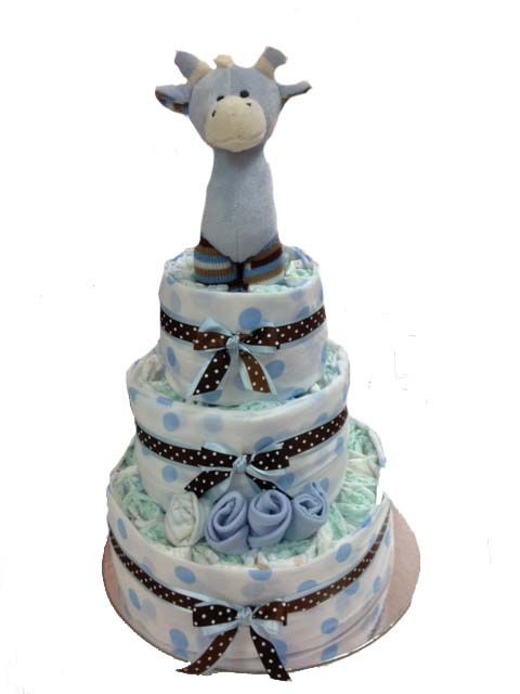 3 Tier Nappy Cake - Boy