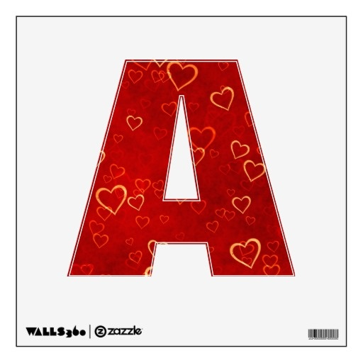 red hearts pattern wall decor
