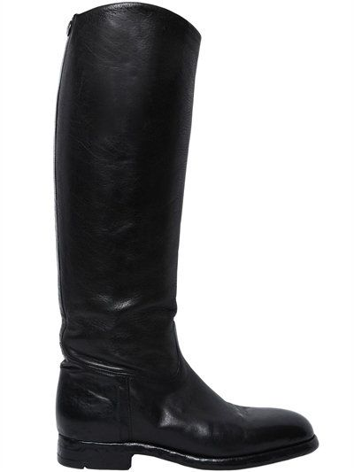 ALBERTO FASCIANI 20Mm Embossed Leather Riding Boots, Black. #albertofasciani #shoes #boots