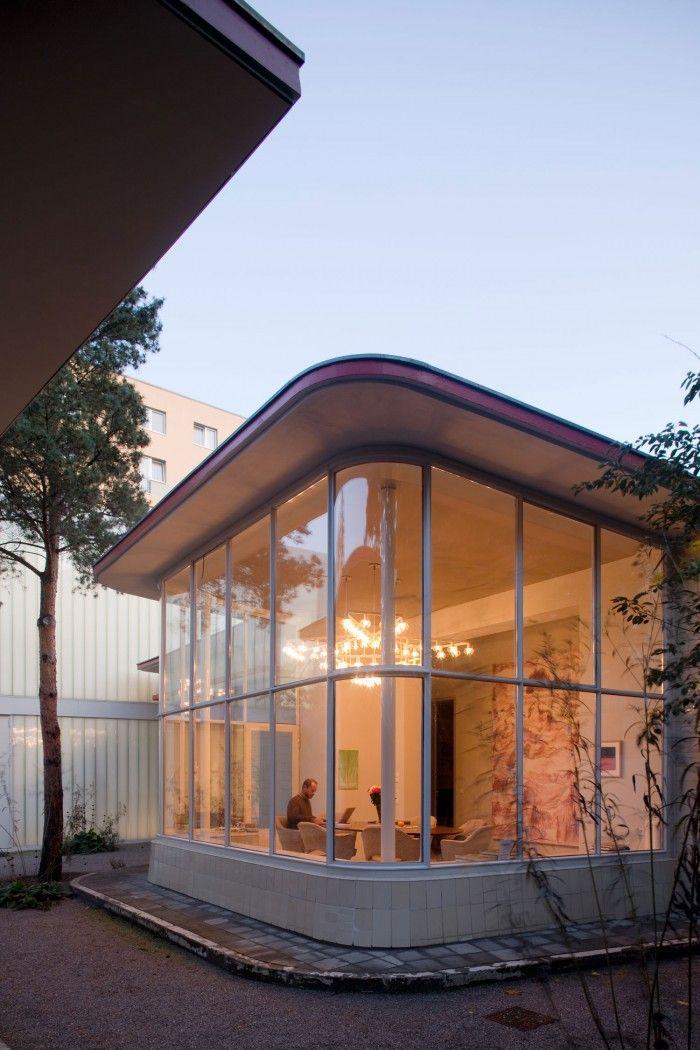 Les 25 meilleures id es de la cat gorie station essence for Architecture annees 50