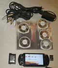 SONY PSP 2000 2001 Black Bundle Charger 3 Games 4 Movies 2G SD Card RCA Cables