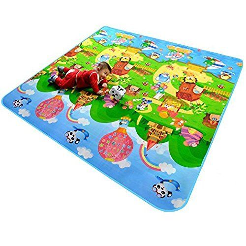 Baby 2 Side Play Mat child Activity Foam Floor Soft Kid Eductaional Toy Gift Gym Crawl – 120 x 180 cm