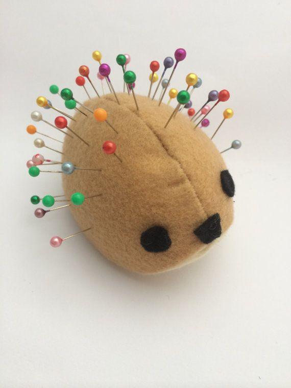 Hedgehog Pincushion by BillyandElizabeth on Etsy, $5.00