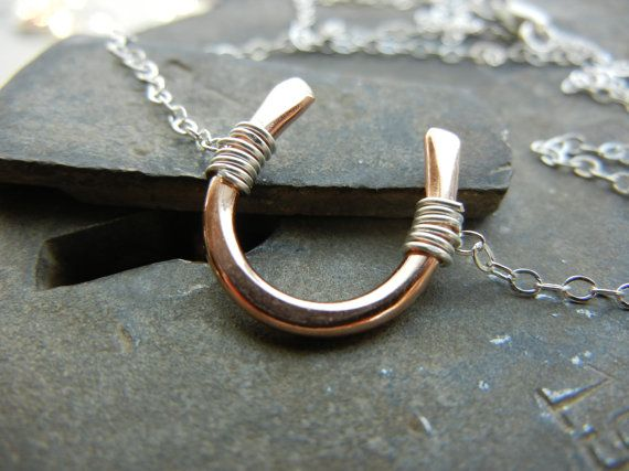 Pure Luck Tiny Rose Gold Fill Horseshoe Necklace by natashagrasso