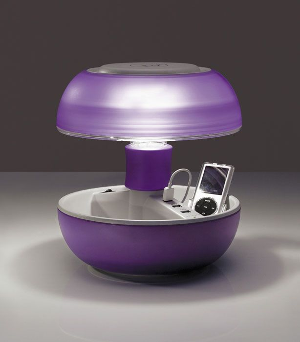 Vivida - Joyo (LILAC) - Table lamp, usb charger, coin tray... - Samuel Codegoni