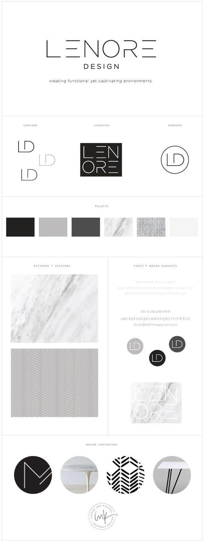 Brand Launch: Lenore Interior Design - Salted Ink Design Co. | logo, brand, branding, design, brand stylist, brand board | www.saltedink.com: