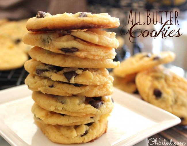 Yellow cake mix, butter, and chocolate chips! The perfect cookie!