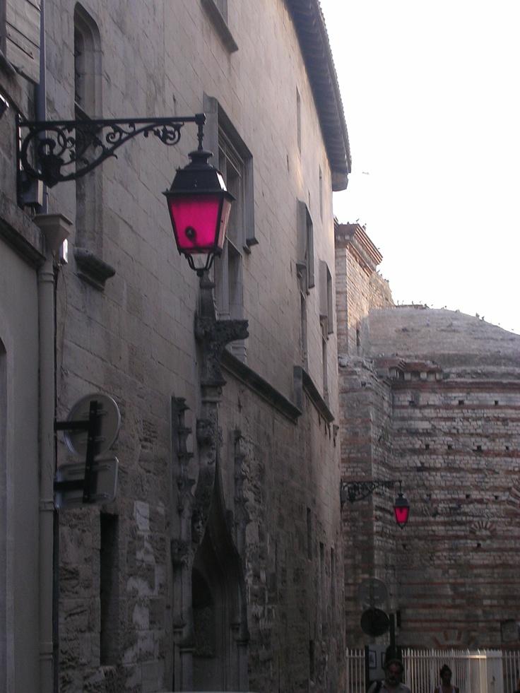 Pink lanterns in Arles (South of France)
