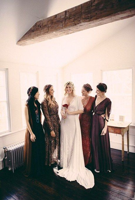 Beautifal fall bridesmaid dresses. These are making me swoon!