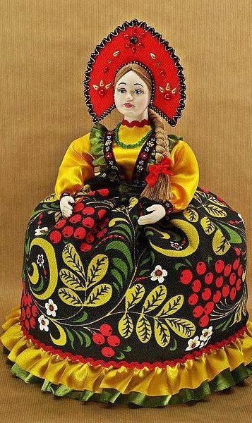 Russian doll tea cosy.