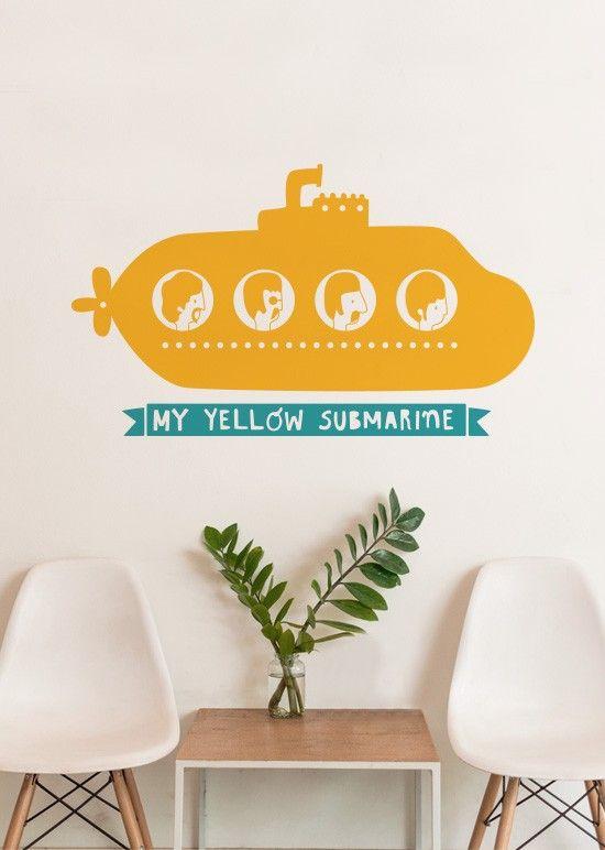 Adesivo The Beatles - Yellow Submarine