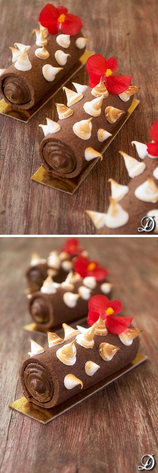 Cilindros de sablée de cacao rellenos de ganache de chocolate y lima / http://disfrutandodelacomida.blogspot.com.es/