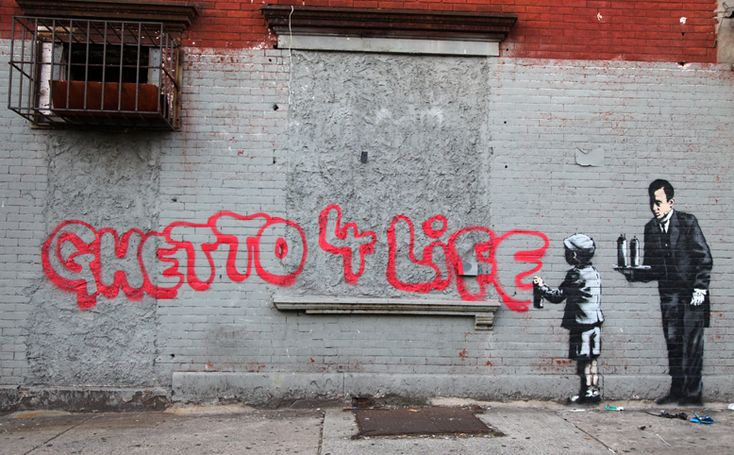 Ghetto 4 Life by Banksy #banksyny