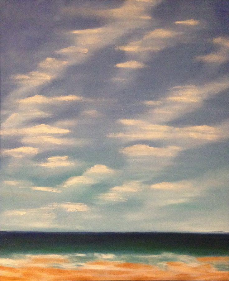"""""""Beach Sky"""" Oil on Canvas - 20"""" x 24"""" - SOLD"""
