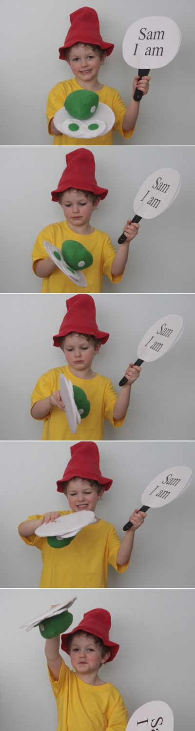 green eggs & ham costume (Dr Seuss day) - It's Always Autumn
