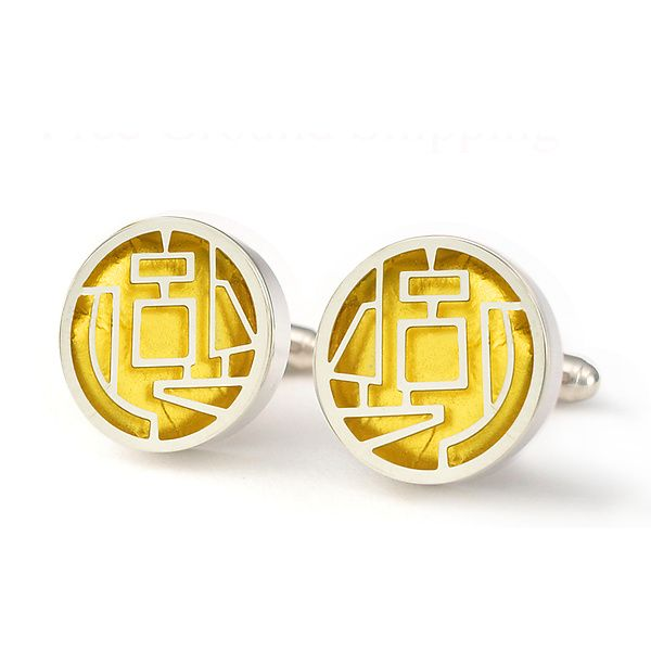 Giacometti Cuff Links by Victoria Varga: Gold & Silver Earrings available at www.artfulhome.com