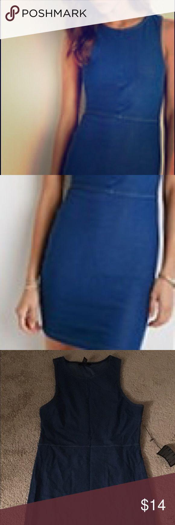 Forever 21 Denim Bodycon Dress Size L forever 21 denim dress . Never worn ! Forever 21 Dresses Mini