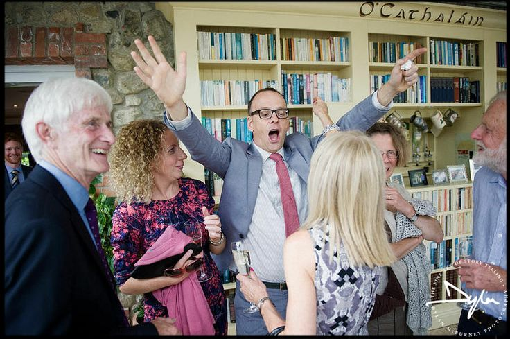 Wedding guests at Ballymagarvey Village  --- Photographs by Dylan McBurney