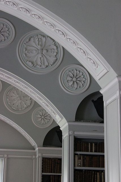 Detail of the elliptical arches by John Soane in The Book Room at Wimpole, Cambridgeshire (1806)   Flickr - Photo Sharing!