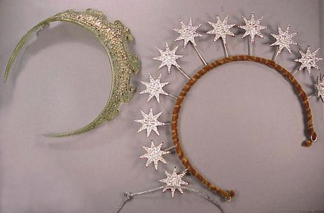 Two costume tiaras 1920s / rhinestones