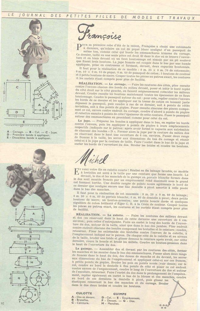 Patron Modes et Travaux juin 1957