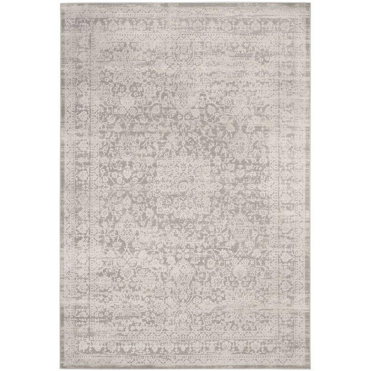 Safavieh Princeton Vintage Oriental Grey/ Beige Rug (4' x 6') (PRN712G-4), Size 4' x 6' (Cotton, Geometric)