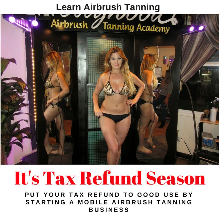 Its tax refund season.  Put your tax refund to good use by starting an airbrush tanning business. No experience & no Cosmetology license required.  You can learn through our 1 day spray tan course, weekend spray tan course or through our online spray tan course.  Our courses are private and hands-on and we get you ready so you can start your business immediately after our training.  Learn more by calling or texting 818-674-9621 or visit…