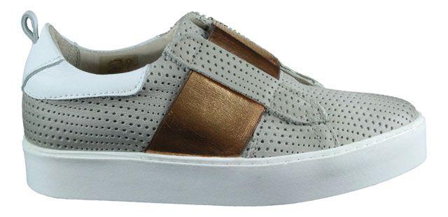 Mjus   Slipper   Slip-On - grau   kupfer #copper #sneaker #slipon #style