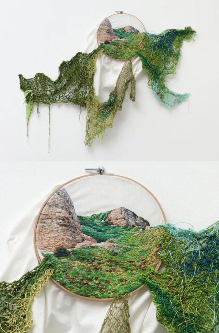 Embroidered artwork by Ana Teresa Barboza @Craftsy
