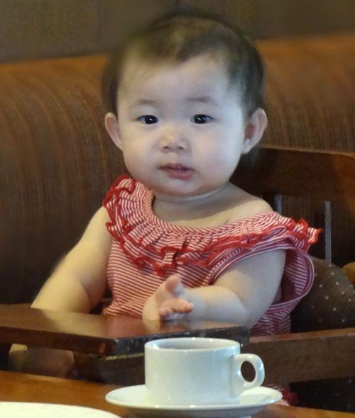 Cute kid #coffee time