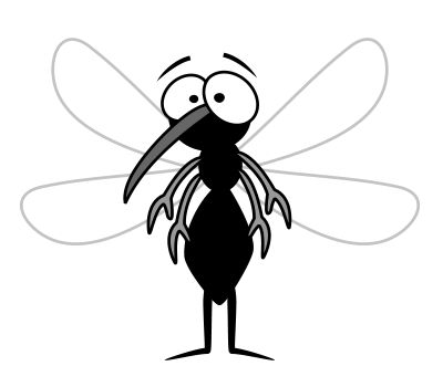Learn how to draw a cartoon mosquito that won't take a bite out of your skin and suck all your blood!