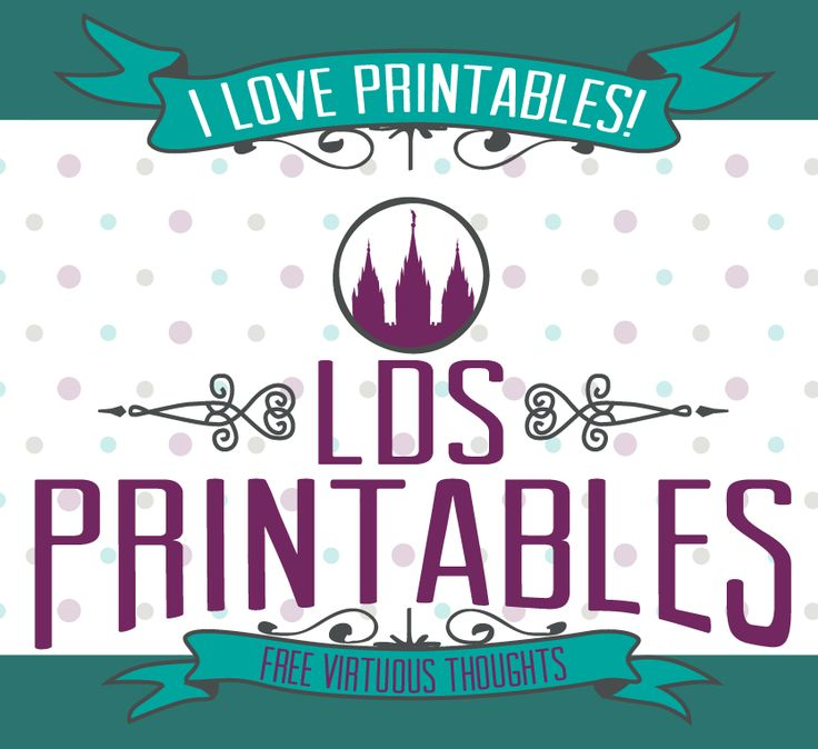 LDS Printables got a makeover! Come check it out and view the printable gallery to see over 100 printables that are absolutely FREE!