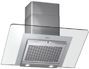 Neff D99W45 90cm Angled Cooker Hood DUCTED OUT ONLY in Black or Clear Glass 380m3hr £866