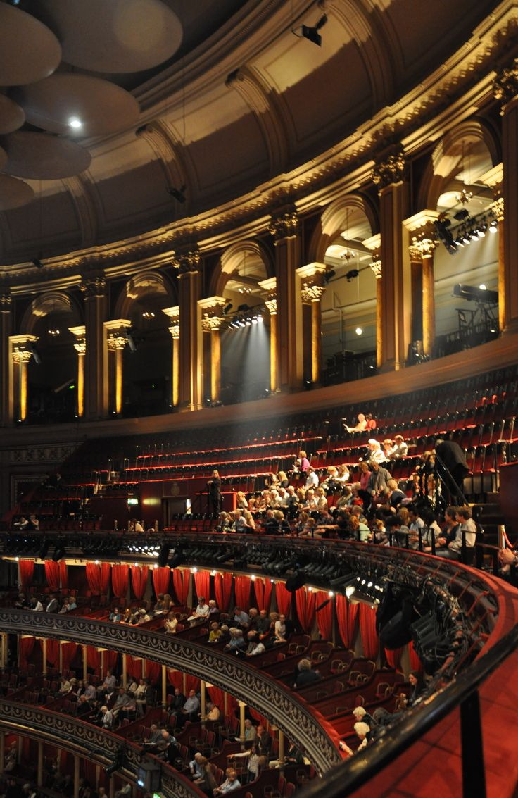 London. Royal Albert Hall interior... Magical, school day memories of watching The Proms.