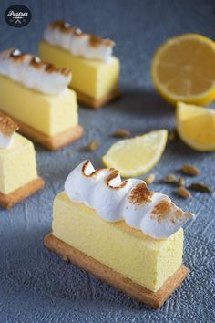 Sablée de Cardamomo, Crema Limón e interior de Yogur y Chocolate Blanco