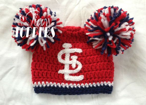 Crocheted St Louis Cardinals Hat Cap by TinyTippyToppers on Etsy