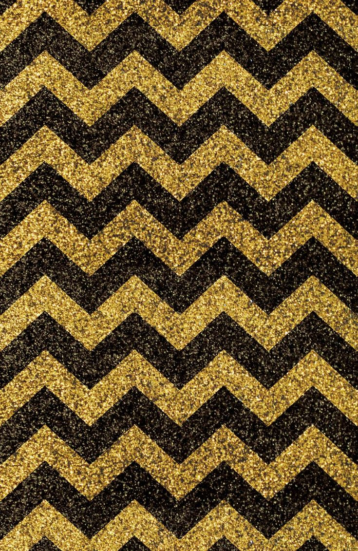 Wallpapers For > Black And Gold Glitter Chevron Background
