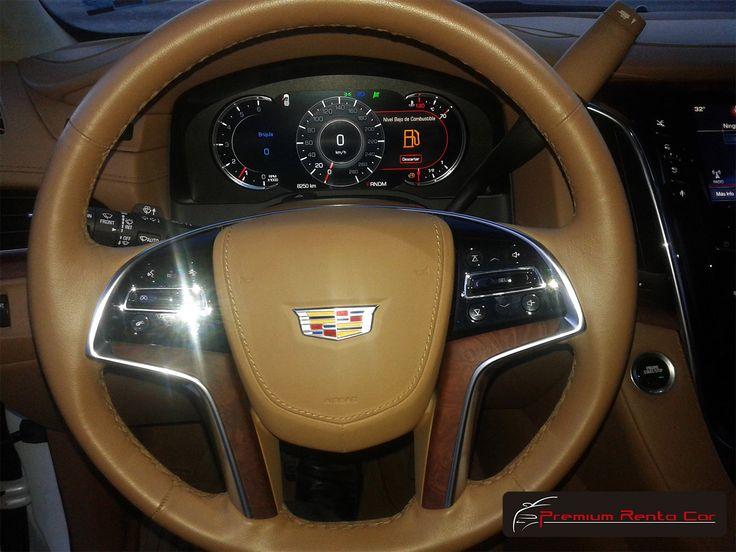 2016 Cadillac Escalade Interior >> Interior del Cadillac Escalade Platinum 2016 color Blanco / 2016 Cadillac Escalade Platinum ...