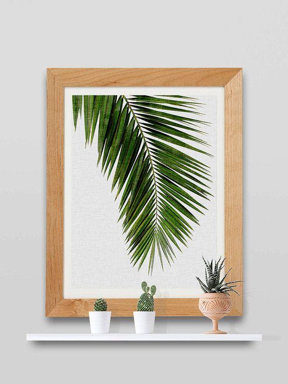 Printable Women Gift Wall Art Palm Palm Leaf by paperpixelprints