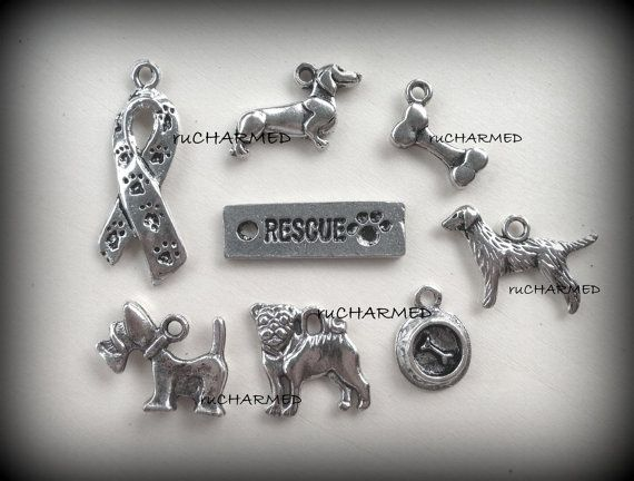 8pc Rescue Adopt Dog Lovers Puppy Shelter Fundraiser by ruCHARMED, $3.85