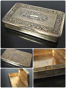Tabatière en Vermeil Argent Ciselé Époque Début XIXè Silver Box | eBay
